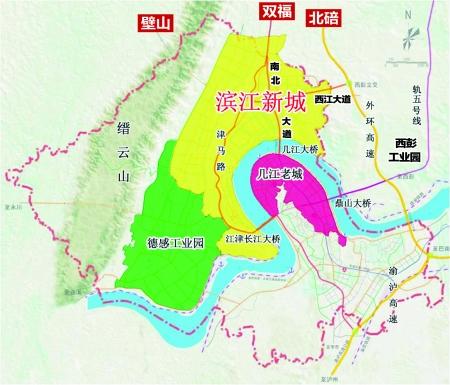 重庆江津区地图