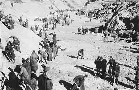 纳粹凌辱犹太妇女的非人行为:裸尸漫山遍野(组图)