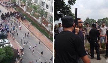 广州一小区100多名业主聚集反对建垃圾站 警察维稳