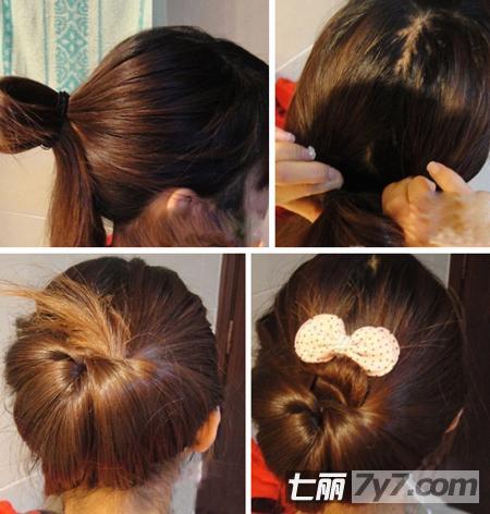 简单韩式魅力盘发发型 打造复古情怀风图片