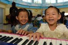 孩子们在社区儿童成长家园