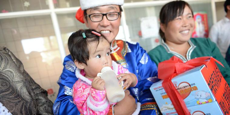 消除婴幼儿贫血行动受益儿童