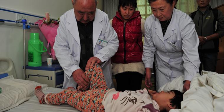 儿基会脑瘫儿童救助项目首位受益者