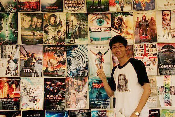800号电影社团 电影海报墙