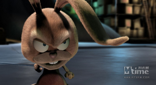 在电影进行到一半的时候,这只兔子是一个完完全全如假包换的npc,出现
