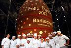 阿根廷打造世界上最大巧克力复活节蛋