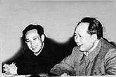 """田家英(1922-1966.5.23)四川成都人。中共中央办公厅副主任。1948年8月起任毛泽东秘书,直到1966年。曾任中央办公厅秘书室主任、中央政治局主席秘书等职。1959年庐山会议上因与彭德怀看法相似受到冲击。文革批彭罗陆扬时,他被认为右倾、与杨尚昆关系不正常。1966年5月22日,王力等到中南海住地,令他停职反省,交清全部文件,搬出中南海。第二天他在离毛泽东住处不远""""喜福堂""""的图书室的两排书架之间吊死,终年44岁。1980年被平反。"""
