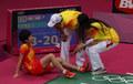 羽球女单铜牌争夺战 汪鑫受伤遗憾退赛