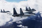 8月10日,歼-11战机编队准时临空靶场。(中国军网 刘应华 摄)