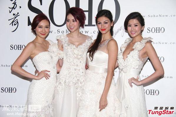 哲妤,今日穿上婚纱为一女性购物网拍摄平面广告,赵哲妤的深V婚图片