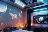 住在这样的卧室,是否就可以上知天文了呢。