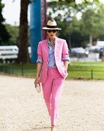 粉色条纹长袜cos图