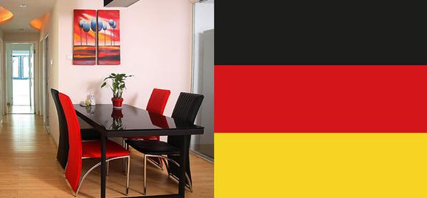 三色搭配_黑红金三色演绎性感魅力 感受德国典雅格调