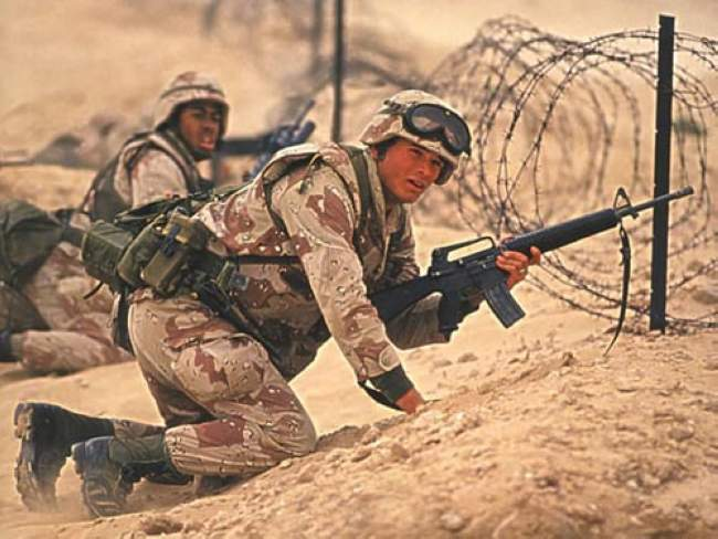 伊拉克在几个小时内就控制了科威特,由此导致第一次海湾战争爆发图片