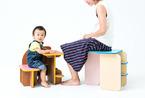 和孩子一起成长!作椅子又当书柜的多功能儿童家具