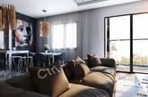 质感的纹理和图案:现代时尚开放式公寓设计(实习编辑:江冬妮)