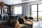 质感的纹理和图案:现代时尚开放式公寓设计