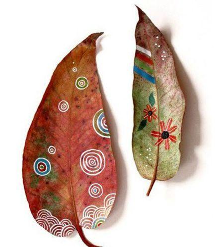 树叶装饰画 装扮家居不可少的彩绘艺术作品