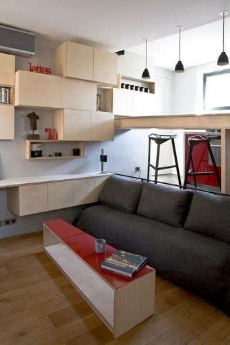 小而不乱 16平米现代公寓教你收纳