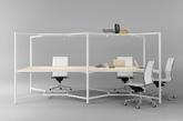 该框架拥有简约的设计,但很多功能。连同一个织物覆盖架,也有装配LED和一个调光器,充足的空间的充电基座,当然,还可以存储和整理配件。其模块化功能,让您轻松拥有一个私人工作区、协作会议空间。(实习编辑:刘宁馨)