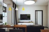 年轻的业主认为一个单身公寓应该是一个可以放松的地方,所以一切设计以休闲舒适为主。Pavlova Oksana设计师以白色为主色调,将客厅、厨房置于同一空间。不同的墙面材料让这里不再单调,清新的绿色作为点缀,十分新鲜,充满年轻人应有的活力。书房位于餐桌旁,延用了绿色减少色彩的转变。现代化的休息房到了夜晚则变成主人的卧室。47平米的空间每处都有着惊喜。(实习编辑:陈尚琪)