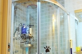 安置了淋浴房,干湿区域分开。