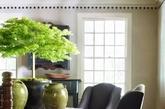浑圆的花盆,植上一株顶着绿茸茸树冠的小树,在这样的居室中,温馨又可人。一切都是敦厚安稳的感觉。(实习编辑 孟璇)