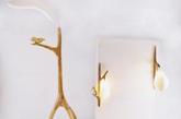 2.「田园碎语」系列灯  这款由孙婷婷设计的《田园碎语》系列灯具想用其诗意的美感让人们在嘈杂的社会中回归自然,唤醒人们最初的感动。