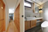 这是一间屋龄30 年的老屋,在设计师安排下,让70平米的小空间在视觉上变得更宽广舒适。空间中的日本建筑语汇不难发现屋主对于日式空间的喜爱。起居空间中客厅与餐厅两道主视觉墙面以水泥粉光处理,而卧房等其他壁面则以珪藻土勾勒出纹理,让视觉上产生不同层次。 餐厅壁面则搭配涂以蓝色裸裎管线,使空间感更为活泼立体,与一旁柔蓝色挑高书柜相对应,形成空间中有趣对话。而家中另一特色为屋主所收藏的餐椅,亦展现男主人对于挑选家具独到的品味,也使整体空间增加了话题性!(实习编辑:谭婉仪)