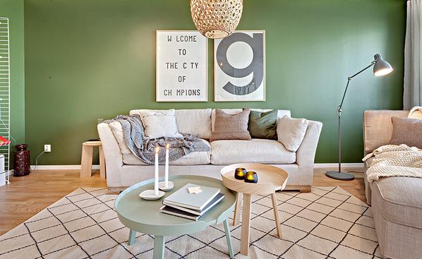瑞典绿色主题公寓 打造清新自然风