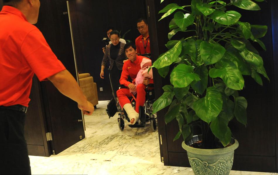 2012年08月14日,刘翔回到上海。
