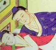 中国古代春宫图:古时男女结婚前性启蒙(组图)