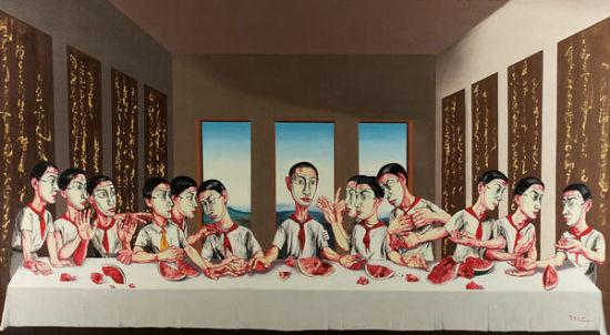 曾梵志作品拍1.8亿港元成亚洲最贵当代艺术品