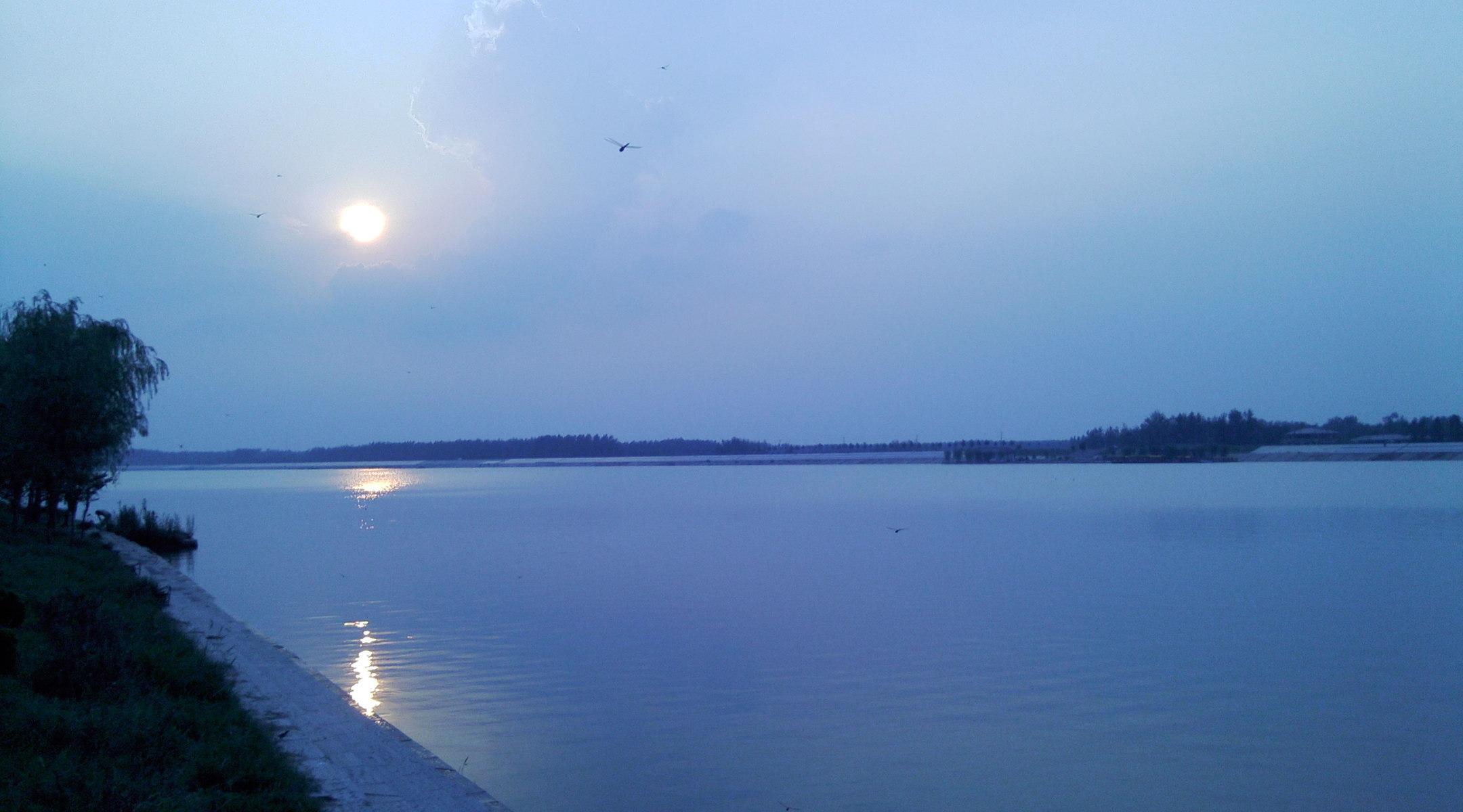 浮龙湖 浮龙湖,位于山东省菏泽市单县境内,是明朝黄河决口冲击而形成的平原湖泊,南北宽2.5公里,东西长10公里,由浮龙湖、月亮湾两部分组成。建有浮龙湖旅游度假区,规划面积50平方公里,核心区25平方公里。浮龙湖由三部分组成,分别是黄河故道湿地景观区、浮龙湖水上休闲娱乐区、森林公园生态体验区。 浮龙湖平均水深3-6米,库容约1亿立方米,整体水位西浅东深。浮龙湖生态环境良好,芦苇蒲草成方连片,荷叶莲花婆娑摇曳,亭亭玉立,灰鹤、白鹳、野鸭争相觅食,筑巢栖息。置身湖中俨然天然氧吧,给人以清新之感。目前,浮龙湖生