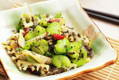 豆瓣春笋炒芽菜