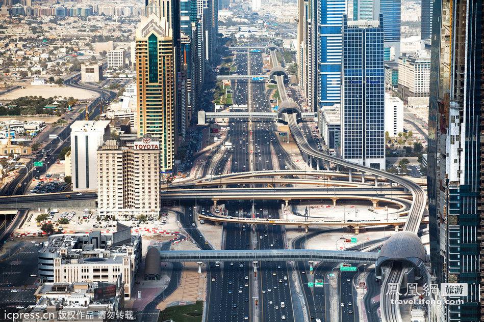 繁华迪拜建筑物摄影高清图片   素材公社 tooop