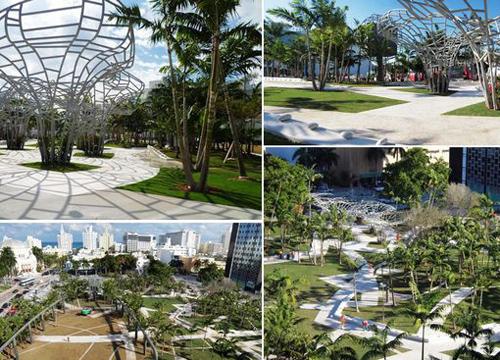 公园的设计理念是打造出一个阴凉舒服的都市公园.