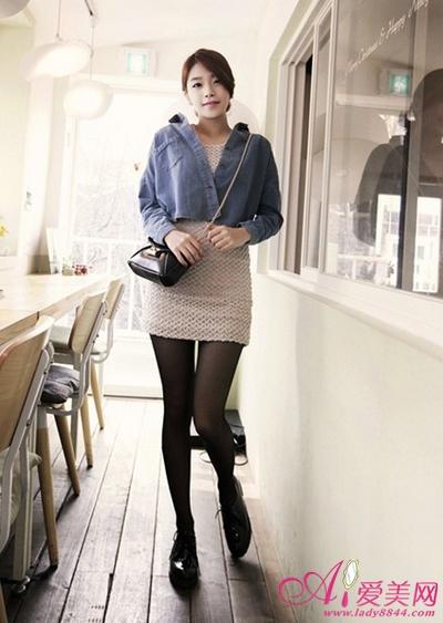 日韩美女都爱牛仔外套