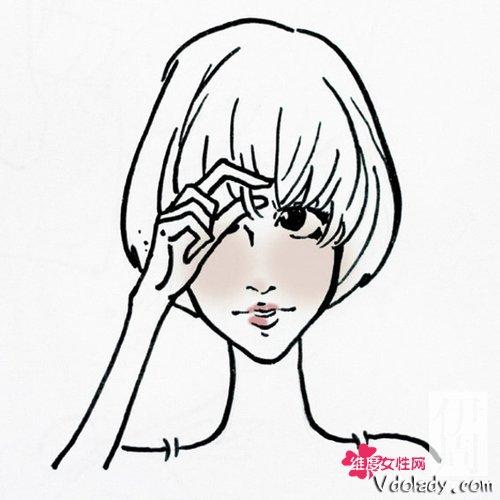 手绘短发卡通头像女