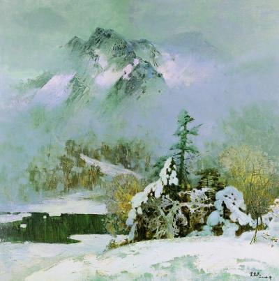 长幅欧式风景油画