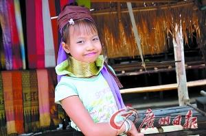 可爱的长颈族小姑娘。