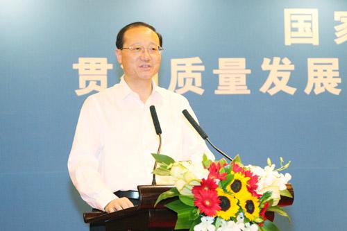 国家旅游局局长邵琪伟出席签字仪式并讲话  刘亚湖/摄