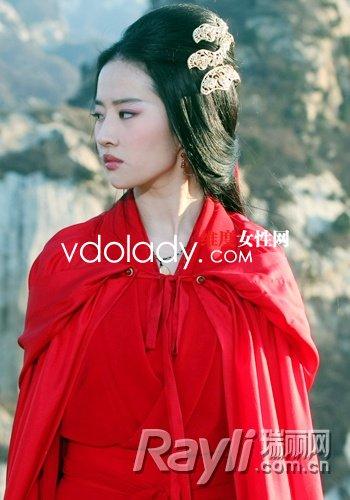 刘亦菲魅惑性感妆容出演《铜雀台》使大性感拉克元素的丝图片