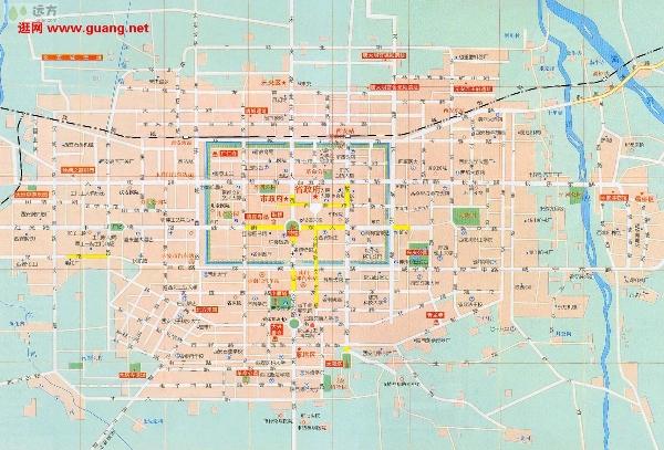 西安市内及其周边旅游景点分布图图片