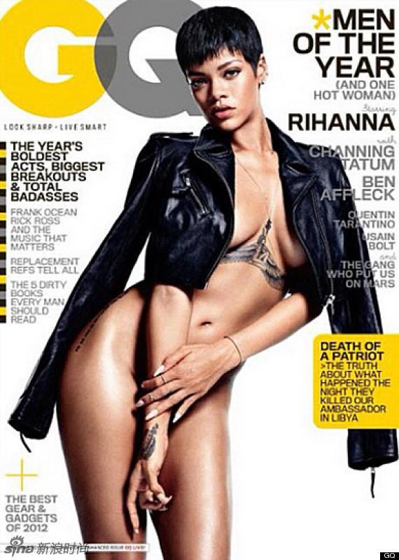 蕾哈娜越脱越大胆 无底裤or无上装时尚写真图