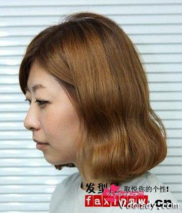 直发变蛋卷头发型教程,八步骤轻松打造韩式蛋卷头发型.