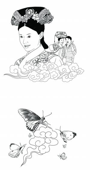 简笔画蝴蝶的步骤图解