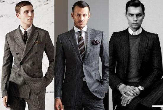绅士熟男条纹西装