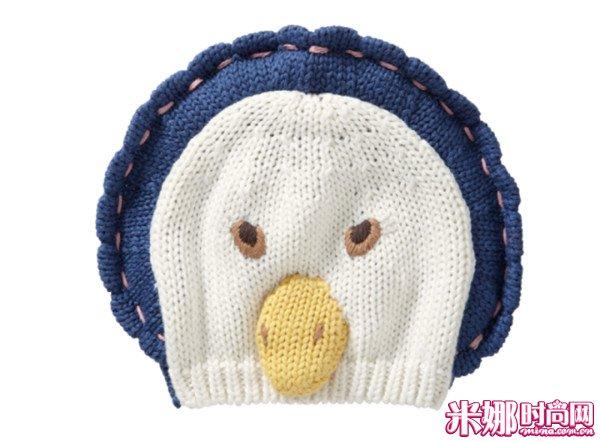 鹅造型针织帽