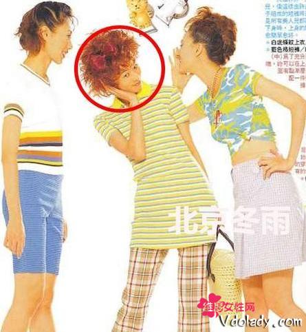 网友曝林志玲19岁青涩照 时尚非主流发型被比似洗剪吹